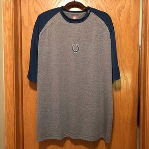 EUC NFL Colts raglan sleeve polyester shirt